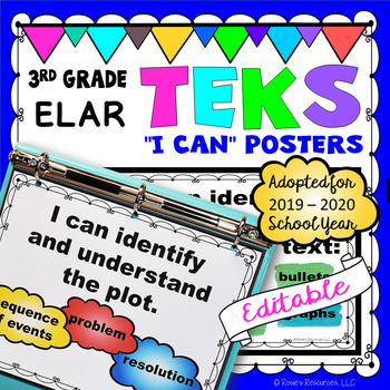 TEKS 3rd Grade Reading and Writing I Can Statements
