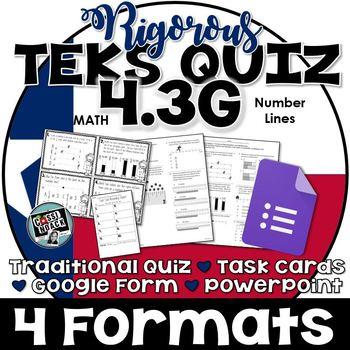 TEKS 4.3G Quiz- Rigorous Assessment of Decimals and Fracti