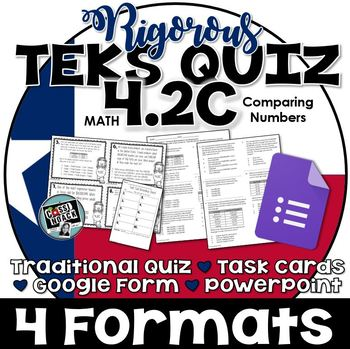 TEKS 4.2C Quiz- 10 rigorous and dual-coded questions to as