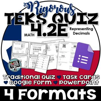 TEKS 4.2E Quiz- 10 rigorous and dual-coded questions to as