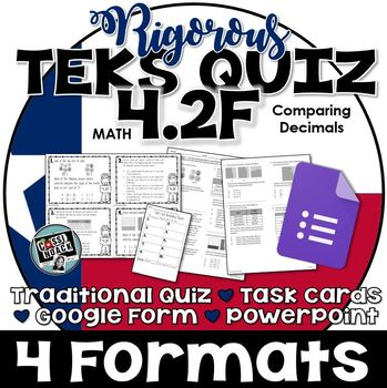 TEKS 4.2F Quiz- 10 rigorous and dual-coded questions to as