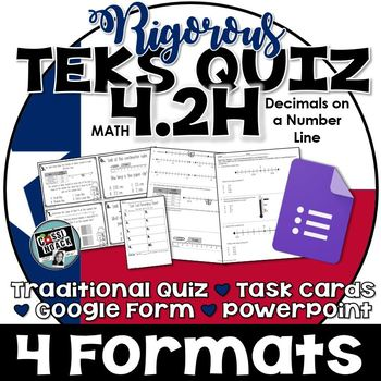 TEKS 4.2H Quiz- 10 rigorous and dual-coded questions to as