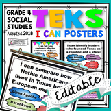 TEKS 4th Grade Social Studies I Can Statements
