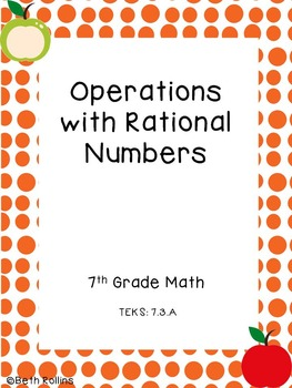 TEKS 7.3.A Operations with Rational Numbers Scavenger Hunt