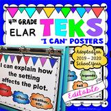TEKS I Can Statement Posters 4th Grade Language Arts/Reading