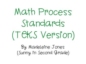 TEKS Math Process Standards Posters