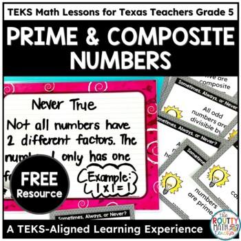 TEKSas STAAR Masters: Prime and Composite Numbers Sample P