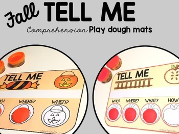 TELL ME! Comprehension Play Dough Mats: Fall Edition