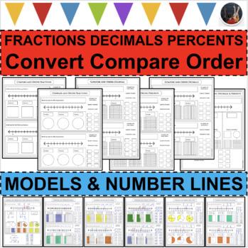 UPDATED TEMPLATES - Compare Fractions Decimals Percents Nu