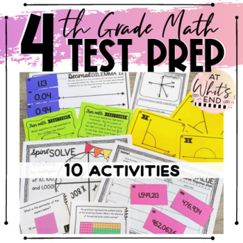 TEST PREP: 4th Grade Math - EOY Math Stations (CCSS and TE