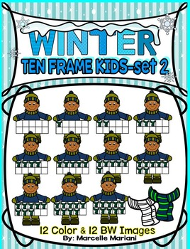 TEN FRAME KIDS- WINTER EDITION- SET 2- COMMERICAL USE