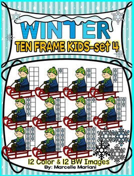 TEN FRAME KIDS- WINTER EDITION- SET 4- COMMERICAL USE