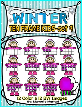 TEN FRAME KIDS- WINTER EDITION- SET 9- COMMERICAL USE