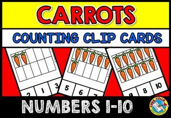 TEN FRAMES ACTIVITIES: CARROT TEN FRAMES CLIP CARDS: PRE K