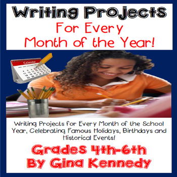 Creative Writing Projects for Every Month! Writing Homewor