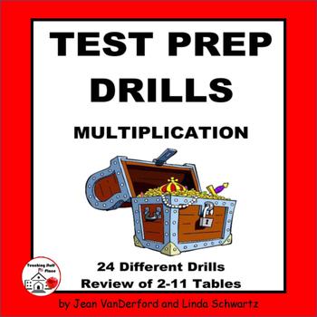 MULTIPLICATION TABLES | Test Prep Drills | NO PREP | Pract