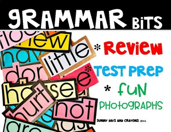LANGUAGE / GRAMMAR  SPIRAL REVIEW { TEST PREP }