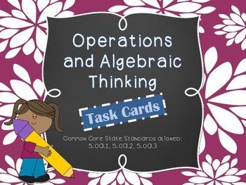 MATH TEST PREP: Operations & Algebraic Thinking Review Tas