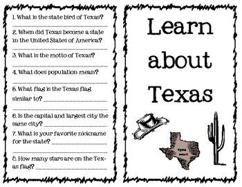 Texas Symbols Worksheet - Rringband