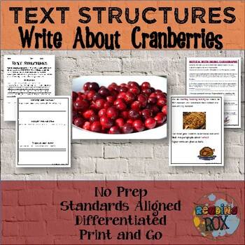 TEXT STRUCTURES: review then write about CRANBERRIES-Thank