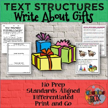 TEXT STRUCTURES: review then write about GIFTS-winter holi