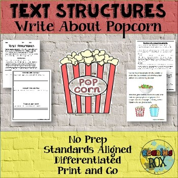 TEXT STRUCTURES review and write about POPCORN