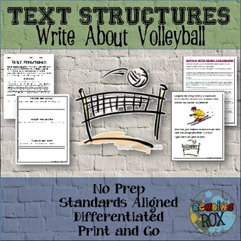 TEXT STRUCTURES: review then write about VOLLEYBALL-sports