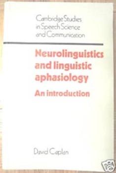 TEXTBOOK NEUROLINGUISTICS AND LINGUISTIC APHASIOLOGY Speec