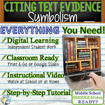 TEXT EVIDENCE / CONSTRUCTED RESPONSE Prompt - Symbolism -