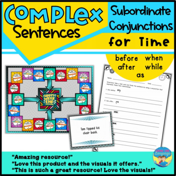 Complex Sentences and Time- Sentence Structure Game- Langu