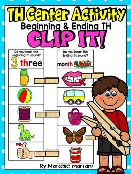 TH- BEGINNING AND ENDING TH WORDS- CLIP IT-ADAPTABLE LITER