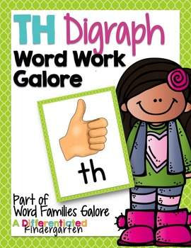 TH Digraph Word Work Galore-Differentiated and Aligned Pri