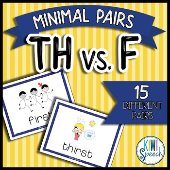 TH vs. F Minimal Pairs Flashcards {FREEBIE}