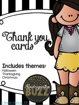 THANK YOU! Cards to send to students year around to say Th