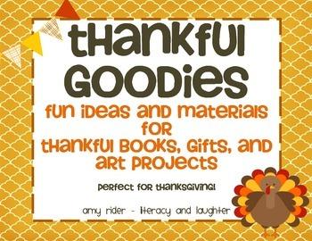 THANKFUL GOODIES {fun thankful books, gifts, and art proje