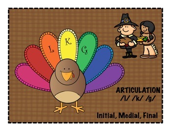 THANKSGIVING ARTICULATION - /l/ /k/ /g/