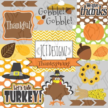 THANKSGIVING CLIP ART COLLECTION- TURKEY DAY!