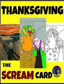 THANKSGIVING INTERACTIVE CARD - THE SCREAM