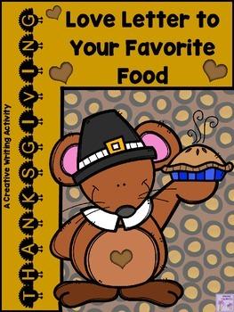 THANKSGIVING Love Letter to Your Favorite Food (Descriptiv