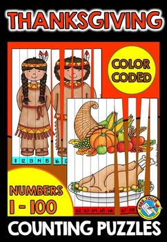 THANKSGIVING MATH CENTER: THANKSGIVING COUNTING PUZZLES: N