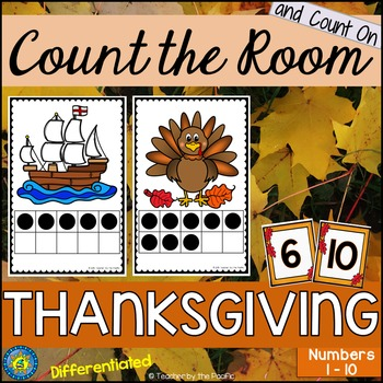 THANKSGIVING Math - Count the Room – Ten Frames and Number