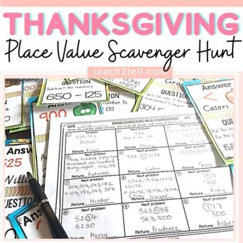 THANKSGIVING PLACE VALUE SCAVENGER HUNT