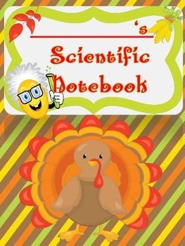 THANKSGIVING SCIENTIFIC METHOD - Experiment Log Booklet
