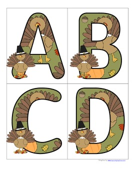THANKSGIVING Alphabet  FREE