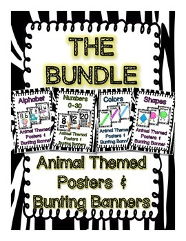 THE BUNDLE Animal Themed Posters and Bunting Banners