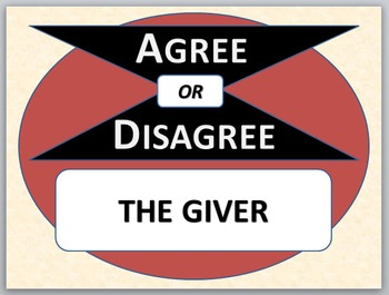 THE GIVER - Agree or Disagree Pre-reading Activity
