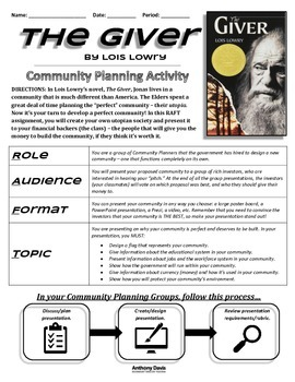 THE GIVER - Community Planning Final Group Project