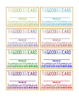 THE GOOD DEED CARD | Punch Card | Leader Habits | Characte