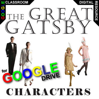 THE GREAT GATSBY Characters Organizer (Created for Digital)