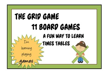 TIMES TABLES - THE GRID GAME - 11 Board Games for Learning